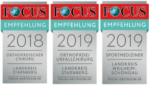 Focus Empfehlungssiegel 2017-2019