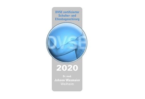 Zertifikat Auszeichnung Dr. Wasmaier OFZ Schulter Ellenbogen